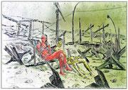 Wertegemeinschaft, 2013, digitale Radierung auf PVC, 200x300 cm, Auflage 3