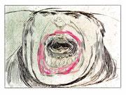 Schlund, 2014, digitale Radierung auf PVC,  200x150 cm, Auflage 3