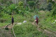 Madagascar, en train