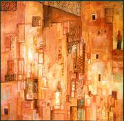Sentinelle, acrylique/toile,100X100cm