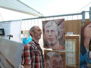 VIIIe Festival artistique international de Racour André Coppens 26 & 27 mai 2012 - Portrait de Jiembé réalisé par Marc-André Metais (Artiste Peintre)