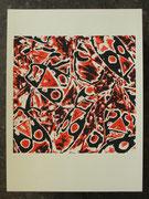 BUGS rot 45x45cm, Blatt 70x50cm, Auflage 7Stück