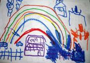 虹と保育園