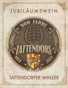 Sonderetikett für den Jubiläumswein anlässlich 900 Jahre Tattendorf