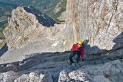 Am Ausstieg des ersten Klettersteiges