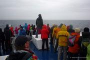 Der Kapitän steht fest  - alle halten Ausschau nach den Walen