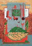 """Brief ohne Worte""   2017,  Auflage 8,  Papiermaß  61x43cm, Druckmaß 42x30cm"