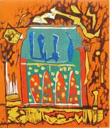 """Blaue Seelen"" (2013, Auflage 6, Papiermaß 62x43cm, Druckmaß 35x30cm)"