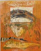 """""""Der Sandläufer"""" (2011, Auflage 6, Papiermaß 50x35cm, Druckmaß 35x28cm)"""