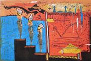 """""""Die Treppchensteiger"""" (2012, Auflage 8, Papiermaß 50x65cm, Druckmaß 30x45cm)"""