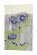 Vom Wasser #69, 2014, Aquarell, Graphit auf Japanpapier auf Kanzleibogen