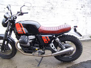 Heckumbau mit Sitzbank Neuanfertigung  Moto Guzzi V7 Special Bj ´14