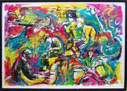 "Davide Ricchetti "" Jazz n 8"" tecnica mista su carta 2013"