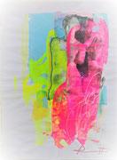 """Davide Ricchetti: """"Esercizio sulla Venere di Milo"""", tecnica mista su carta, cm40x30, 2020. Collezione privata"""