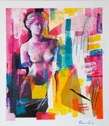 """Davide Ricchetti """" Venere di Milo"""" tecnica mista su tela 2016"""