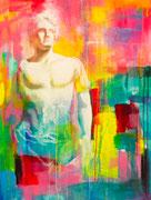 """Davide Ricchetti """" Alessandro Magno"""" tecnica mista su tela 2015"""