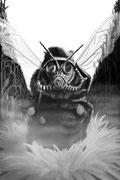 Die letzte Honigbiene // 2014 // Digitale Malerei // (120x80) Original nicht mehr vorhanden