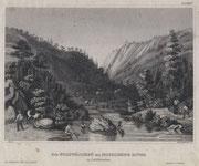 0736/ Stahlstich, ~1900, Mokelumne River/Kalifornien, 30x20cm, EUR 15,-