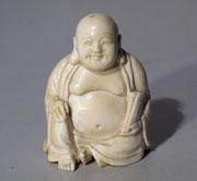 4182/ Buddha ~1910, China, Bein, H 9cm, EUR 280,-