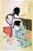 0427/ Holzschnitt, ~1900, sign. Utamaro, 27x41cm, EUR 75,-