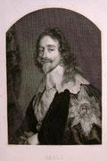 0763/ Radierung,~1900, Carl I. von England, v.Dyck/Mandel, 27x37cm, EUR 15,-