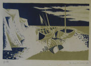 2347/ Holzschnitt, 1960, sign. Diethart Kobs, Rand fleckig, 60x48cm, EUR 60,-