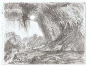 2266/ Bleistift, ~1976, Peter Schadwinkel unsign. (Zertifikat), 19x14cm, EUR 15,-
