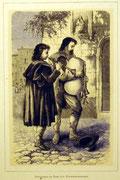 1142/ Druck aus Kunstbuch, ~1900, Piffarari in Rom, C.Zimmermann X.A., Blatt 26x20cm, Stockflecken, EUR 15,-