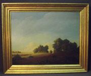 4354/ Öl/Pappe ~1920, sign. Fritz Uphoff, Worpswede, Rahmen: H 50, B 60cm, EUR 1800,-