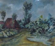 2270/ Heidehof, 1962, sign. P.Schadwinkel, Rahmen 41x36cm, EUR 60,-