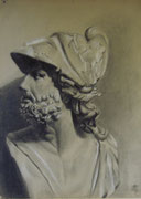 2340/ Kohle, ~1905, H.Kipp unsign. (Zertifikat), 48x65cm, EUR 50,-