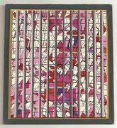 2238/ Collage, ~1960, P.Schadwinkel unsign. (Zertifikat), Motiv 15x17cm, EUR 50,-