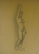 2334/ Bleistift, ~1910, sign. H.Kipp, 49x65cm, kl. Risse am Rand, EUR 75,-