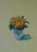 2185/ Blumen, ~1990, L.Peltz unsign. (Zertifikat), Din A3, EUR 75,-