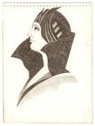2223/ Bleistift, ~1980, P.Schadwinkel unsign. (Zertifikat), Motiv 19x14cm, EUR 25,-