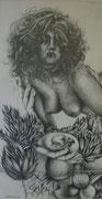 2370/ Bleistift, 1986, sign. P.Schadw., 32x41cm, EUR 55,-