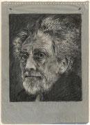 2253/ Bleistift, 1964, Ezra Pound, sign. P.Schadwinkel, Motiv 14x17cm, EUR 35,-