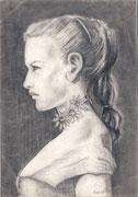 2249/ Bleistift, 1954,  sign. Peter Schadwinkel, Motiv 21x29cm, EUR 35,-