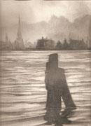 2241/ Bleistift, 1976,  sign. P.Sch.(adwinkel), Motiv 15x21cm, EUR 35,-