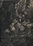 0331/ Holzschnitt, ~1900, sign. M.Dichelbahn (?), Japanpapier, 27x35cm, EUR 20,-