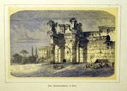 1145/ Druck aus Kunstbuch, ~1900, Minervatempel in Rom, C.Zimmermann X.A., Blatt 20x26cm, Stockflecken, EUR 15,-