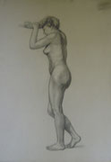 2336/ Bleistift, ~1910, H.Kipp unsign. (Zertifikat), 49x65cm, kl. Risse am Rand, EUR 55,-