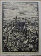 3334/ Holzschnitt, ~1930, Weimar, sign. Paul B(?), Rahmen 33x45cm, EUR 25,-