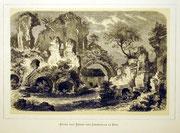 1159/ Druck aus Kunstbuch, ~1900, Caracallathermen in Rom, C.Zimmermann X.A., Blatt 20x26cm, Stockflecken, EUR 15,-