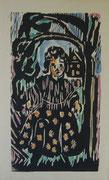 2195/ Holtschnitt aquarelliert, im Stock L.P., 22x36cm, EUR 25,-