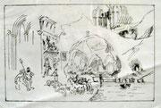 2474/ Skriptol auf Folie, P.Schadwinkel unsign. (Zertifikat), 42x30cm, EUR 35,-
