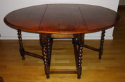 KT0389/ Gateleg Table ~ 1910, für 6 Personen, EUR 420,-