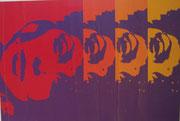 2387/ Siebdruck, 1971, Monroe, sign. Joe Witte, 45x62cm, Knicke, EUR 40,-