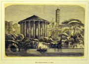 1143/ Druck aus Kunstbuch, ~1900, Vestatempel in Rom, C.Zimmermann X.A., Blatt 20x26cm, EUR 15,-