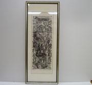 3377/ Holzschnitt, 1969, sign. Hans-Ulrich Buchwald, Rahmen 23x57cm, EUR 60,-